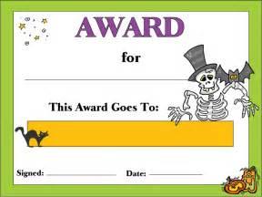 Halloween Costume Certificate Template 4 Best Images Of Free Printable Halloween Award