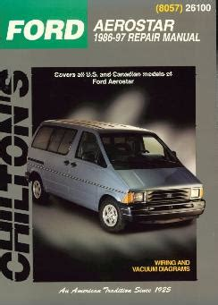 old car owners manuals 1997 ford aerostar head up display 1986 1997 ford aerostar van chilton s total car care manual