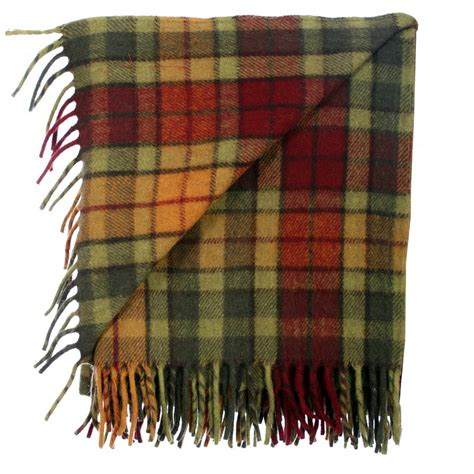 Scottish Cushions Throws And Rugs by New Bnwt Scottish Throw Large Wool Tartan Rug Range Of