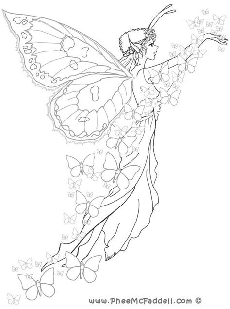 coloring page of fairy beautiful fairy coloring pages coloring home