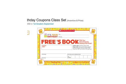 scholastic coupons september 2018