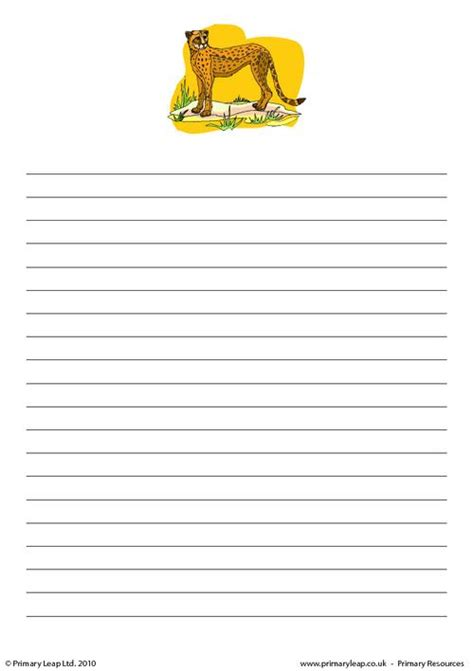 printable animal writing paper animal writing paper 28 images free coloring pages
