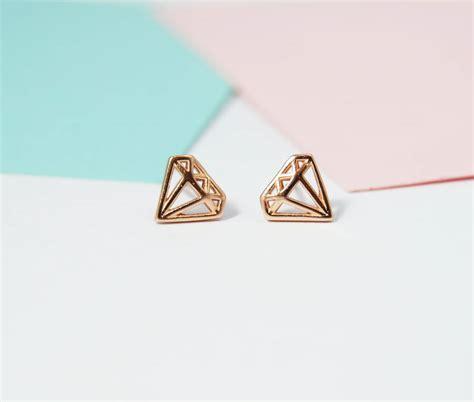 Geometric Earrings shape geometric stud earrings by dainty edge