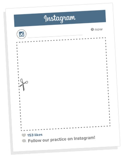 Promote Your Instagram Page With This Free Instagram Frame Download My Social Practice Instagram Selfie Frame Template