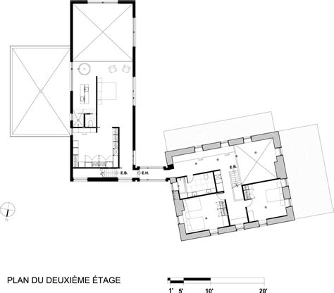 design for rectangular plot rectangular shaped modern home connecting the inhabitants