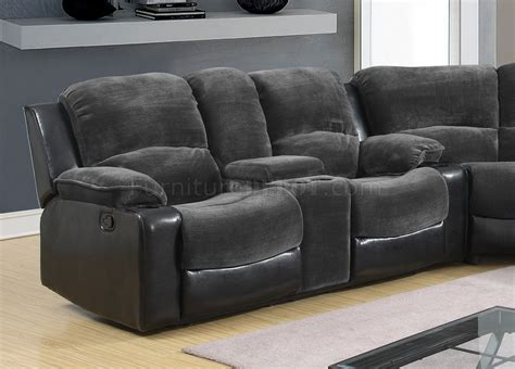black and grey sectional sofa 1301 motion sectional sofa in grey black by global