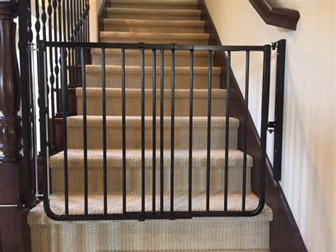Gate For Stairs With Banister by Black Child Safety Stair Gate Installation Baby Safe Homes