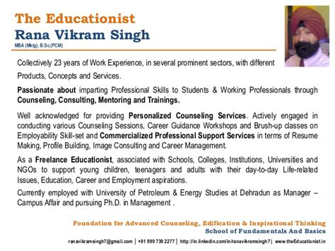 professional profile rana vikram singh
