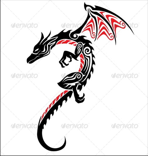 dragon tattoo ending dragon tattoo by kuzzie graphicriver