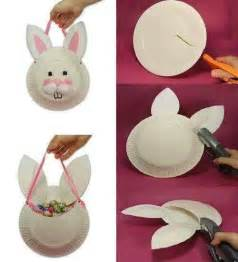 Paper Plate Easter Basket Craft - paper plate easter basket creative thoughts