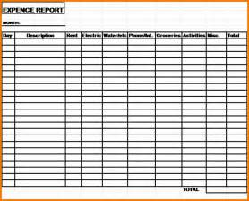monthly expense report template 7 monthly expense report expense report