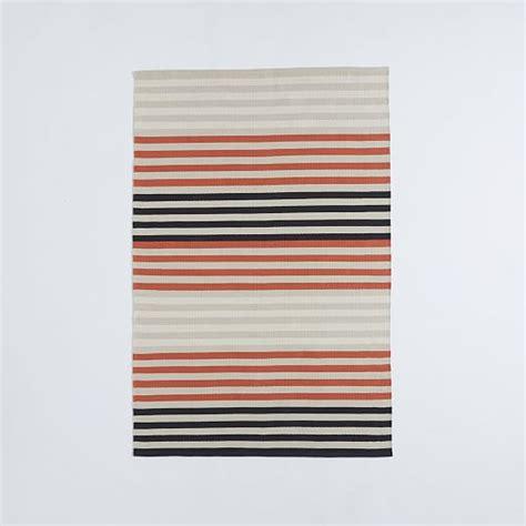 colorstep stripe cotton dhurrie rug black