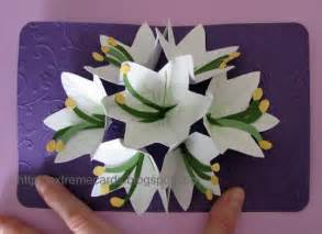 extreme cards and papercrafting seven flower pop up card