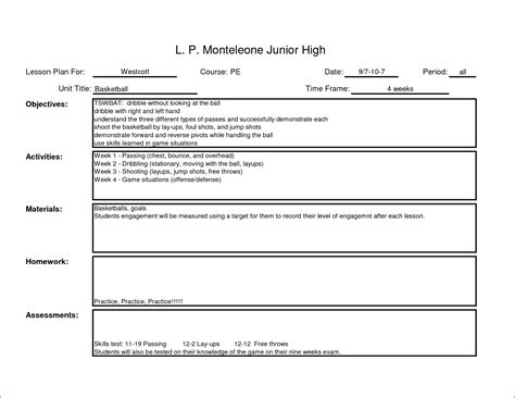 simple lesson plan template for teachers lesson plan template 7 lesson plan
