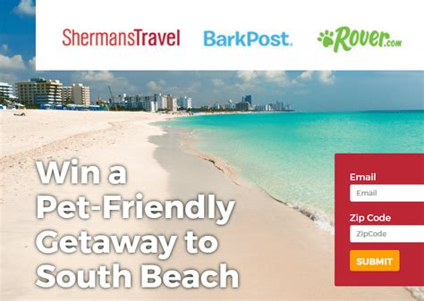 Beach Sweepstakes - win a pet friendly getaway to south beach morning bubbles