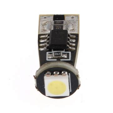 smd led integrated resistor white t10 5050 1 smd led car canbus built in resistor no error free light bulbs us 2 39 sold out
