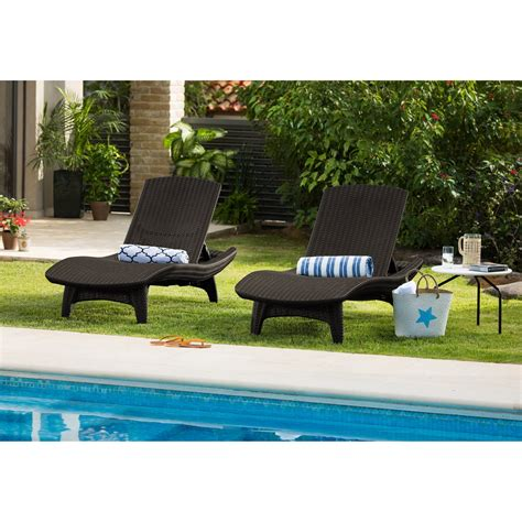outdoor furniture loungers chaise lounges table set outdoor patio pool furniture 3 pc
