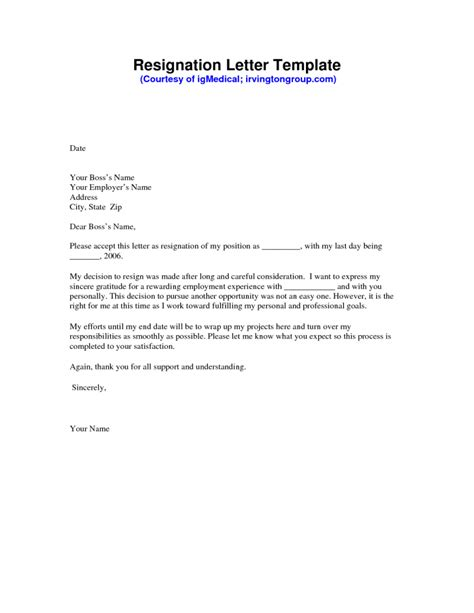 professional resignation letter templates awesome free sle resignation letter free word