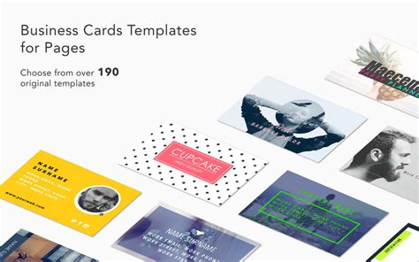 Business Card Template On Pages by Business Cards Templates For Pages By Graphic Node App Info