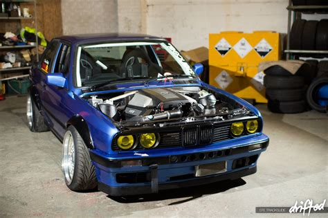 v8 powered bmw e30 drift car yes hawk performance