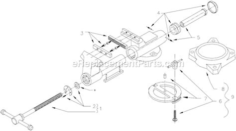diagram of a bench vice wilton 600 parts list and diagram after 1998