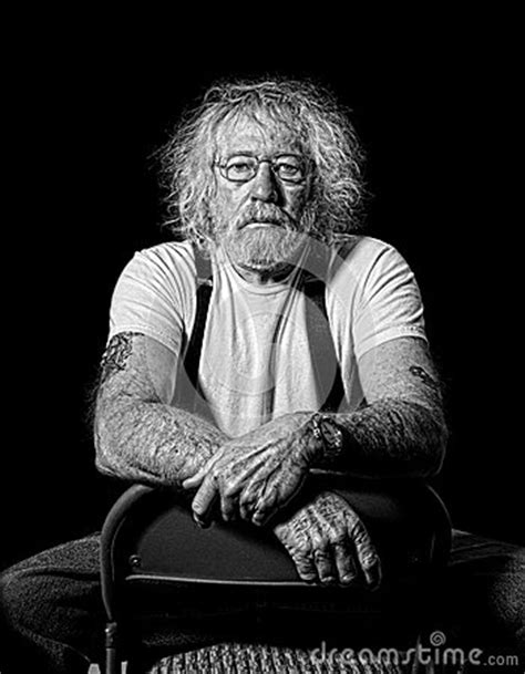 Tough Old Man With Wild Hair Stock Image - Image: 30309271