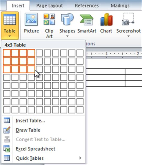 word 2010 working with tables amal nagm
