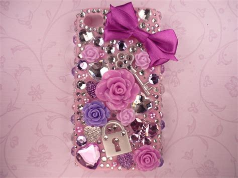 Blingcase Studed For Iphone purple deco bling iphone 4 4s by kuppiecake on deviantart