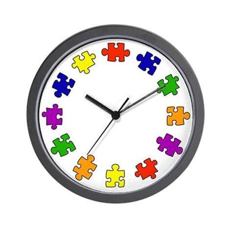 colors of autism wall clock by fabuulous gear