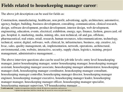 top 10 housekeeping manager questions and answers