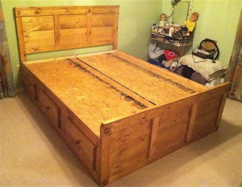 queen size captains bed queen size captain s bed w 6 drawers in a golden oak stain yelp