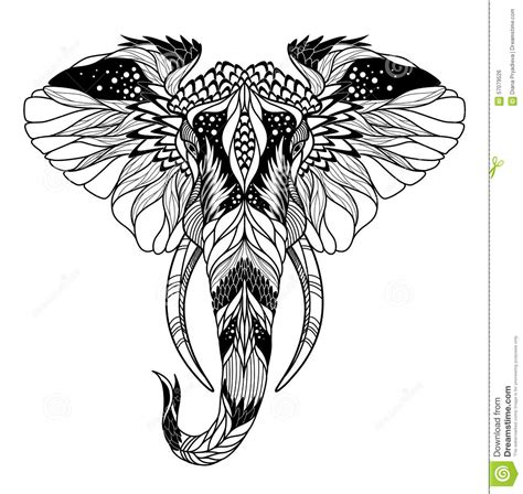 psychedelic elephant head tattoo psychedelic elephant
