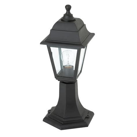 Pillar Lighting Outdoor Endon Lighting Pimlico Single Light Outdoor Post Light In Black Finish With Clear Glass