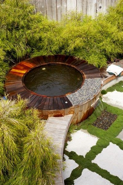 Outdoor Len Design by Outdoor Spa Tub Design With Rock Style Designs