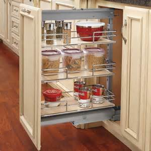 pantry drawers: rev a shelf shorty pull out pantry with maple shelves for kitchen base