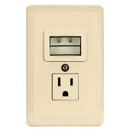 gfci outlet with night light night light and receptacle with photocell 7733w l