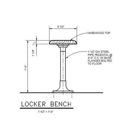 bench cad block locker bench detail cad drawing cadblocksfree cad