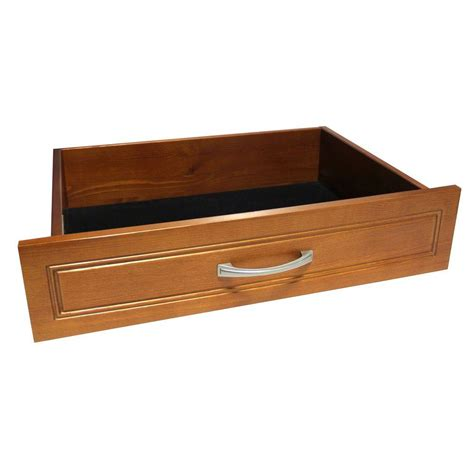 Closet Kits With Drawers by Closetmaid Impressions 25 In Cherry Wide Deluxe