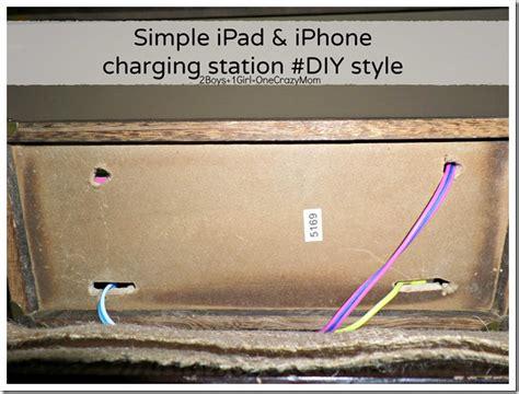 diy ipad charging station create a simple diy iphone and ipad charging station to