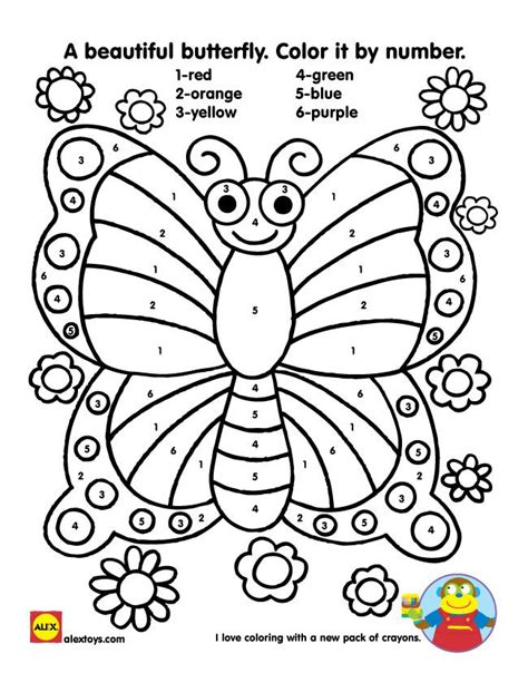 butterfly coloring pages with numbers busy bug printables crayons number and butterfly