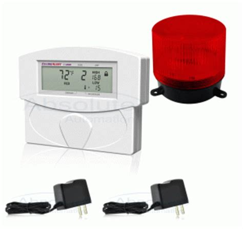 low temperature alarm system with a light to notify