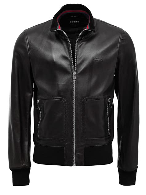 Gucci Jacket by Gucci Jacket 232889 Black Leather Ebay
