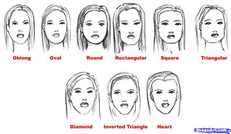 types of faces shapes how to draw how to draw realistic people draw real people
