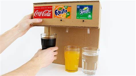 Handmade Soda - how to make coca cola soda machine with 3