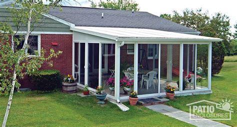 easyroom sunroom kit  white   single slope roof
