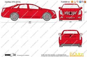 2013 Cadillac Xts Dimensions The Blueprints Vector Drawing Cadillac Xts