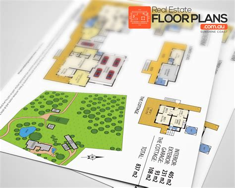 buderim estate marketing floor plan and site plan real