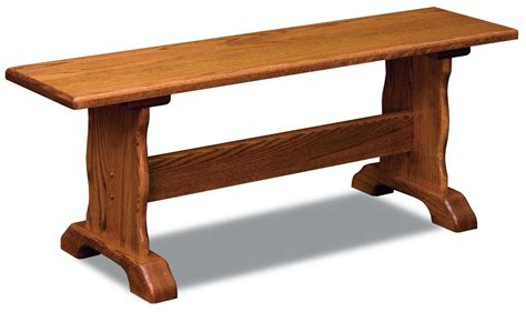 benches mankato traditional trestle bench amish furniture store