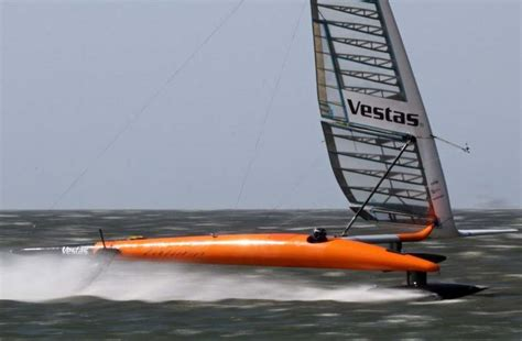 wordlesstech vestas sailrocket 2 ready for world speed - Sailboat Speed