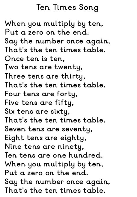 Table Song by Groveton Eaglets Math